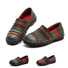Socofy Size Chart Socofy Slip On Loafer Womens Rainbow Leather Casual Loafer Flat Walking Shoes Driving Loafers Moccasin Slippers