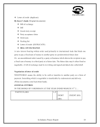 Credit Memo Letter Project on letter of credit and working capital 79