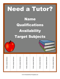 Tutor Flyer Templates Free Flyer Templates All Sorts To Choose From This One
