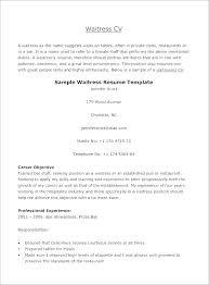 resume sample for restaurant server waiter resume example wikirian com