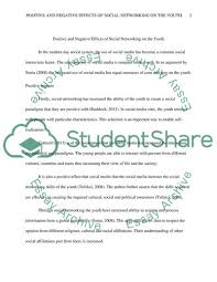 Social Networking Essay A Discussion Of The Positve And Negative Impacts Of Social