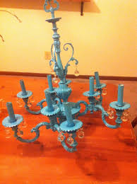 best painted chandeliers images on crafts