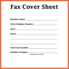 Fax Cover Letter Template Pdf Fax Cover Sheet Template