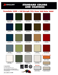 Englert Metal Roofing Color Chart