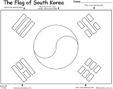 Small Picture korea coloring page South Korean Flag QuizPrintout Korean