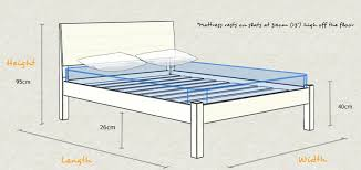 single bed size design. Kensington Wooden Bed Frame Schematic Design Size And Dimensions Single E