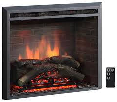 puraflame western electric fireplace insert with remote control 750 1500w 26