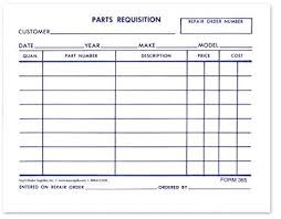 Parts Requisition Short Form Pack Of 1 000 Amazon Co Uk
