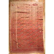 distressed antique afghan beshir rug