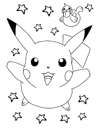 Pokemon Paradijs Kleurplaat Pikachu En Seel
