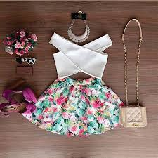 2pcs Set <b>Sexy Women Summer Floral</b> Sleeveless Casual Evening ...