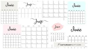 Now bring all your 12 sheets together. Cute Free Printable June 2021 Calendar Saturdaygift