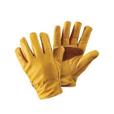 briers golden leather gardening gloves