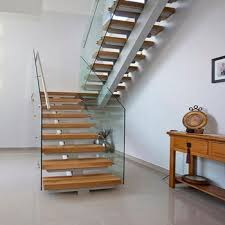 Office Stairs Modern Office Building Mono Stringer Wooden Steps U Shape Stairs