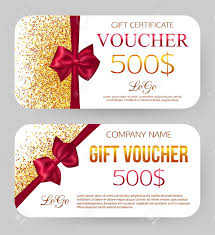 Gift Certificate Template With Logo Gift Voucher Template Golden Design For Gift Certificate Coupon