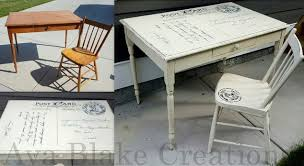 painted table ideasCustom Antique Postcard Table and Chair Set  Hometalk