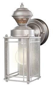 Heath Zenith Motion Sensor Light Stays On Heath Zenith Hz 4135 Sv 150 Degree Motion Sensing Decoractive Security Light With Dualbrite Technology Silver