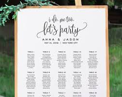 Wood Engraved Customized Seating Chart Wedding Corporate