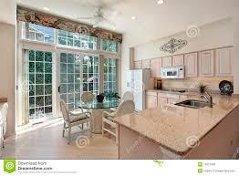 Kitchen Patio Kitchen With Sliding Doors To Patio Royalty Free Stock Photo