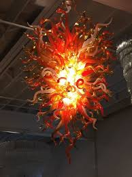 hand blown glass chandelier in the style of chihuly modernism adorable picture