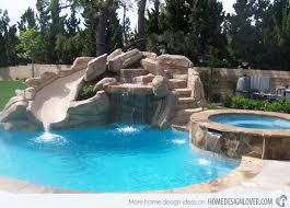 home swimming pools with slides. Interesting Pools 15 Gorgeous Swimming Pool Slides  Home Design Lover With Pools