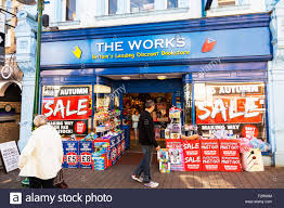 The Works book store shop bookstore front entrance facade sale
