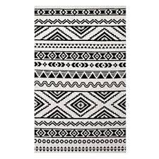 brown and white rug. Shaun Geometric Moroccan Tribal Black/White Area Rug Brown And White