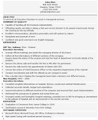 19 Free Executive Secretary Resume Samples Sample Resumes