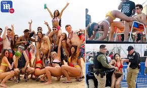 Wild college students on <b>spring</b> break descend upon South Padre ...