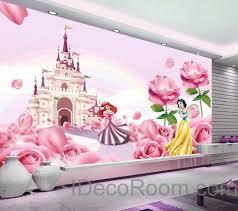 3d disney princess castle wallpaper princess ariel snow white wall paper wall decals wall art print on castle wall art mural with kids wall murals idecoroom