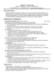 Technical Research Resume Example