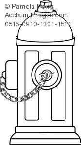 Small Picture Art Illustration of a Fire Hydrant Coloring Page