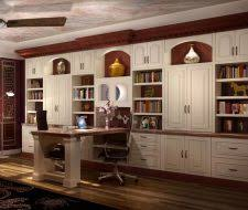 Custom desks for home office Diy Builtin Traditional Style Wall Unit And Desk More Space Place Austin Custom Home Offices Office Builtin Design Closet Factory