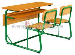 used school desk chair fixed students desk chair wooden standard size of school desk