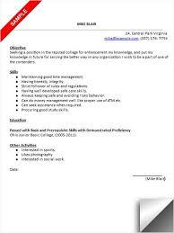 Sample Student Internship Resume Template uxhandy com