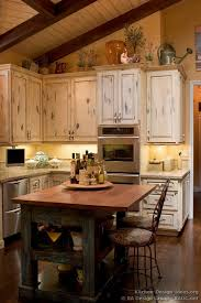 french country kitchen island and decor