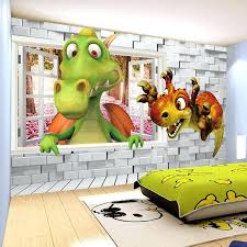 dinosaur decor for toddler room custom photo wallpaper cartoon cute dinosaur brick wall children room bedroom  on wall art for toddlers room with dinosaur decor for toddler room dinosaur bedroom decor lovely