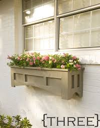 Cut 1X4's and plywood add a mission style feel to this window box from  Lowe's Creative Ideas. Unlike the other boxes which use brackets, this box  is hung ...