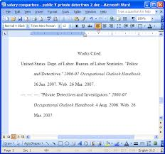 Mla Format Template Word 2007 Mla Template Microsoft Word Salonbeautyform Com