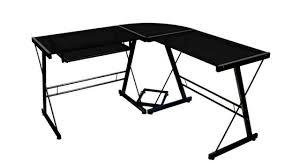 walker edison soreno 3 piece corner desk black with black glass you