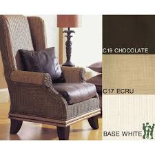 padma s plantation bali rattan wing chair with cushions