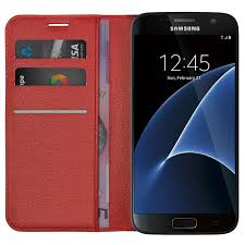 leather wallet case card holder pouch for samsung galaxy s7