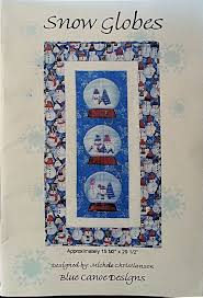 26 best snow globe quilt images on Pinterest | DIY, Artworks and ... & Snow Globes Quilt Pattern Paper Pieced 15.5 x 29.5