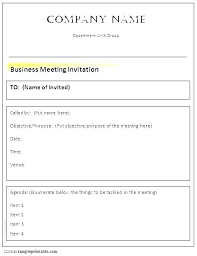 Formal Business Invitation Formal Business Meeting Invitation Template