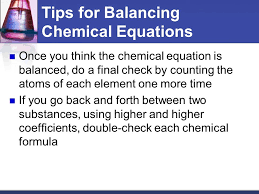 tips for balancing chemical equations