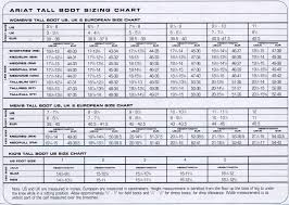 Ariat Heritage Field Boot Size Chart Ariat Boot Sizing Chart Horse Sports