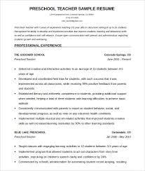 Teachers Resume Format Free Resume Templates 2018