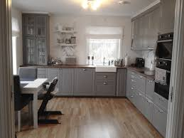 Gray Kitchen This Is More Or Less What We Will Have The Grey Cabinets But
