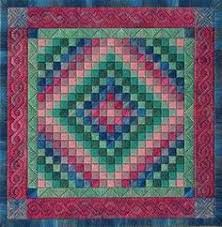 Trip Around The World Quilt Pattern Beauteous This Trip Around The World Quilt Is Beautiful In Purples And