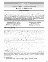 accounts receivables resumes accounts receivable resume sample for payable within account example